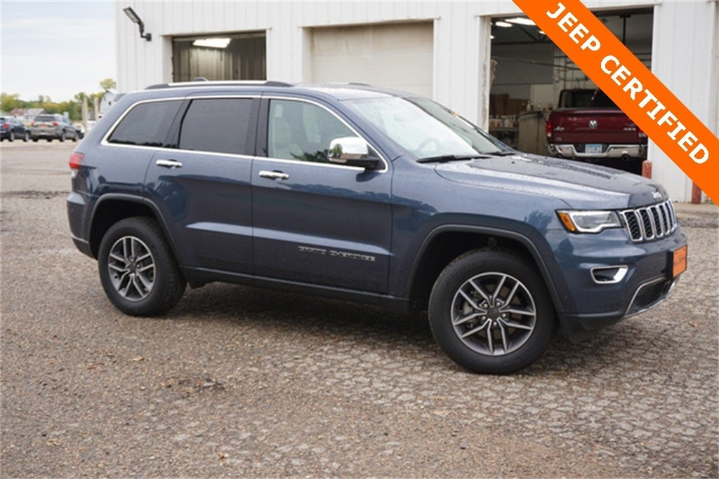 Certified 2020 Jeep Grand Cherokee Limited with VIN 1C4RJFBG9LC351851 for sale in New Prague, Minnesota