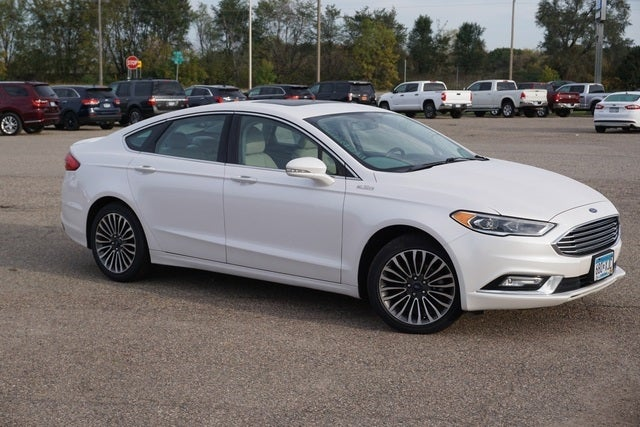 Used 2017 Ford Fusion Titanium with VIN 3FA6P0K97HR116198 for sale in New Prague, Minnesota